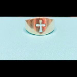 James Avery cross ring